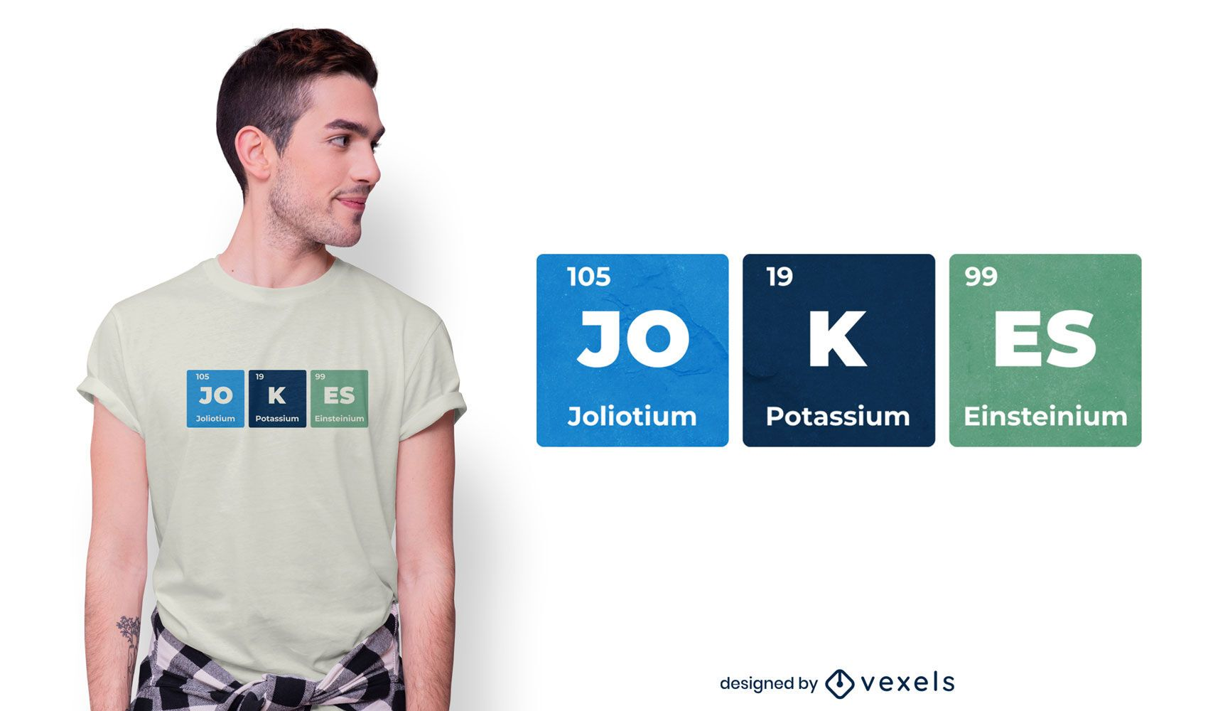 Design de t-shirt de mesa periódica de elemento engraçado