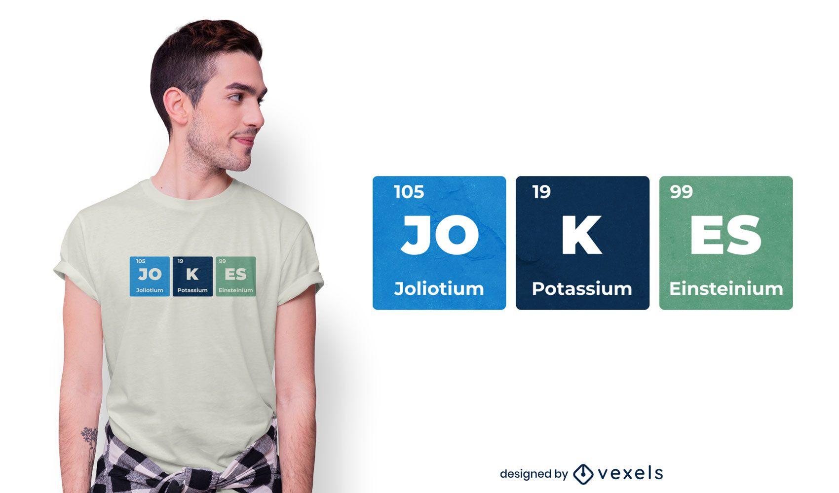 Diseño de camiseta de tabla periódica de elemento divertido