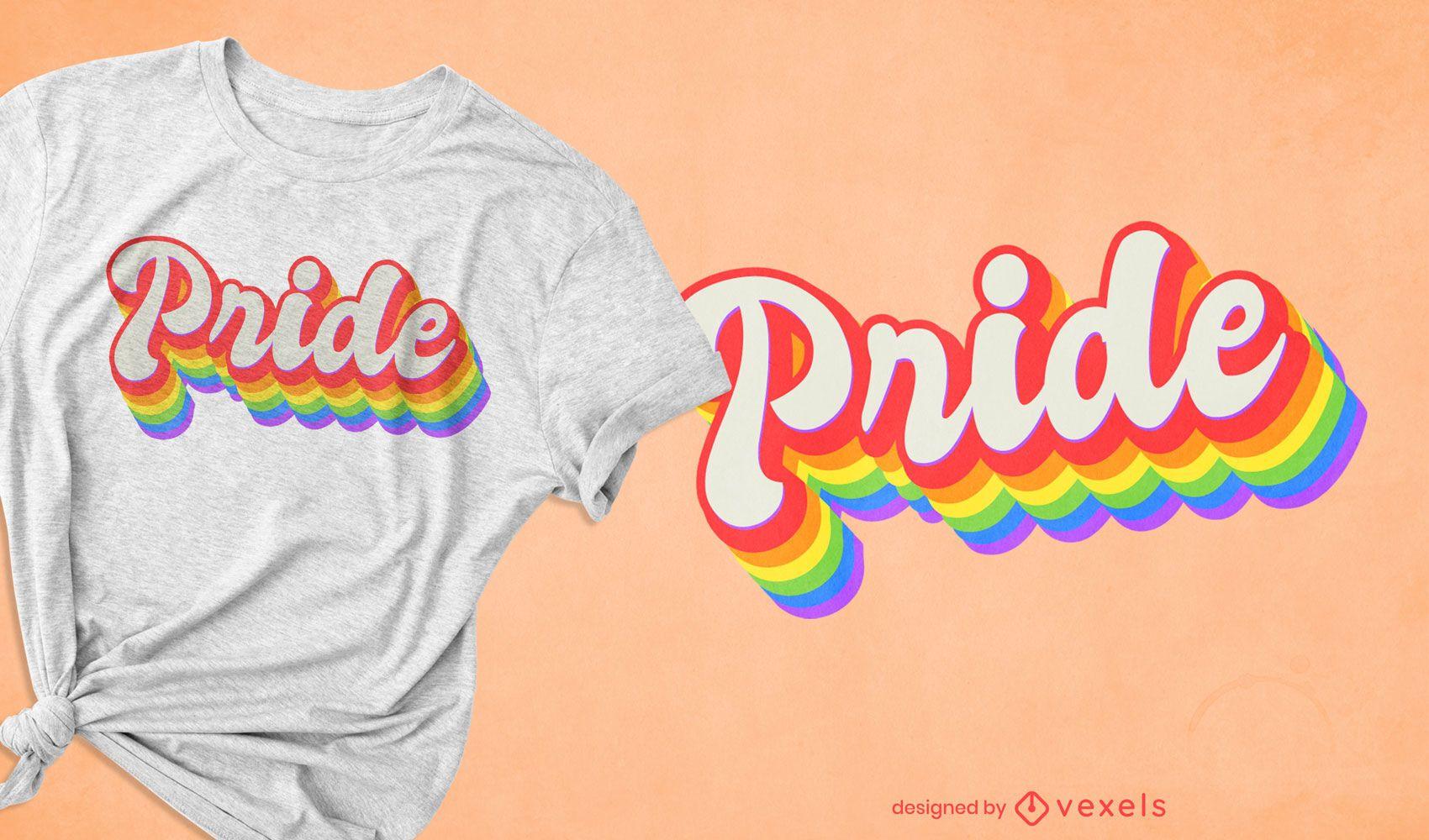 Orgulho lgbt quote retrô design de camiseta