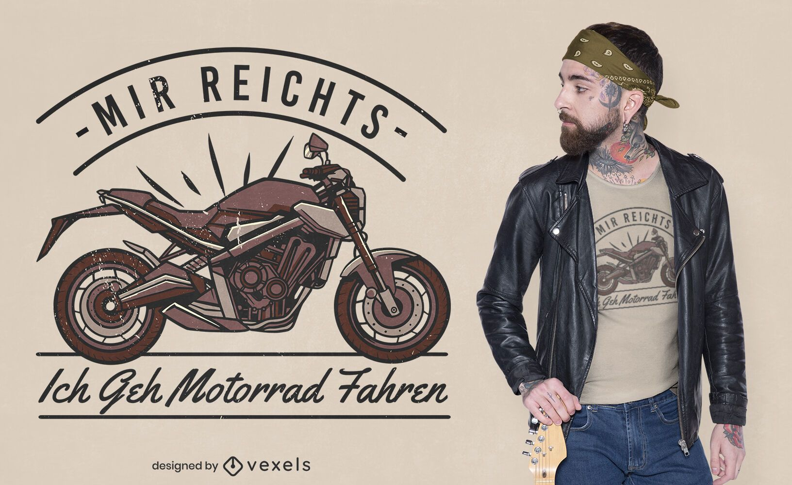 Vintage-Motorradfahrt-T-Shirt-Design