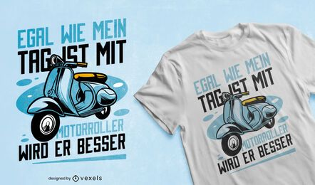 Blue scooter transport t-shirt design