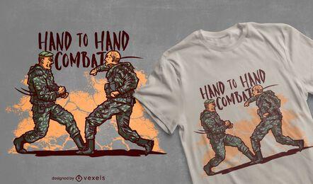 Army men hand to hand combat t-shirt design