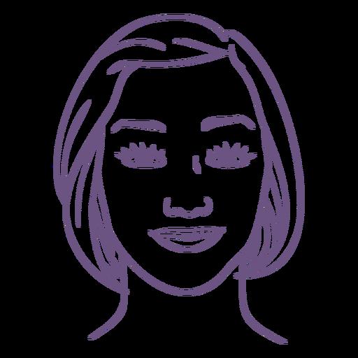 Contorno del cuaderno de anatomía facial - 10