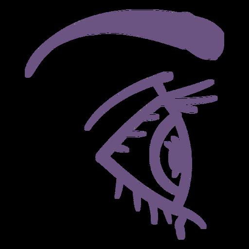 Open eye profile filled stroke