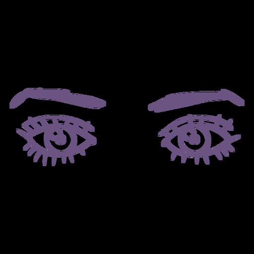 Open eyes front filled stroke