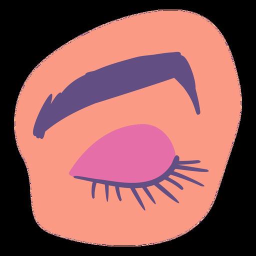 Closed eye flat