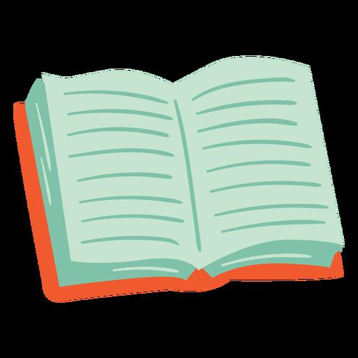 Orange book open semi flat