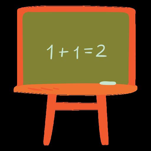 Chalk board semi flat
