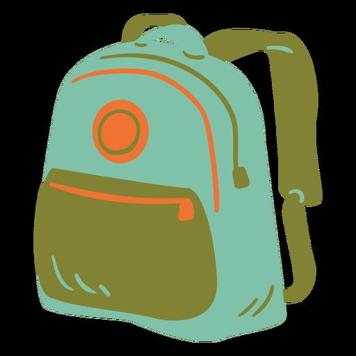 Schoolbag semi flat