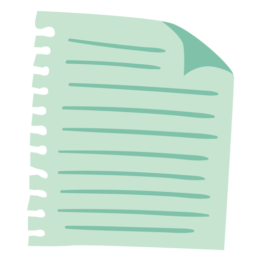 Sheet of paper semi flat