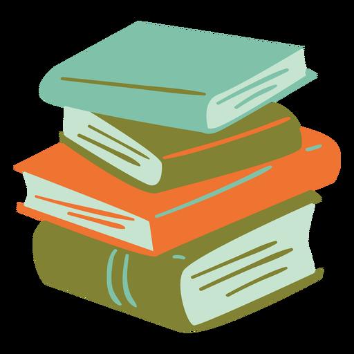 Pile of books semi flat