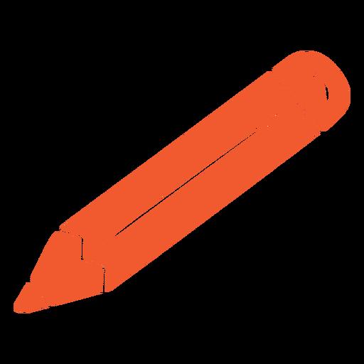 Orange pencil cut out