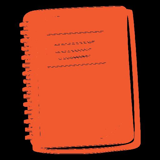 Orange notebook cut out