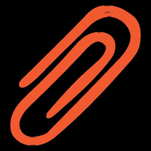 Orange paper clip cut out