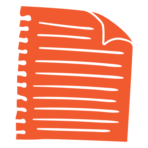 Piece of paper red cut-out