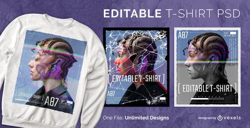 Digital photographs scalable t-shirt psd