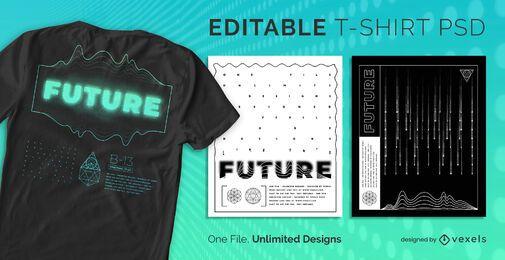 Minimalist futuristic scalable t-shirt psd