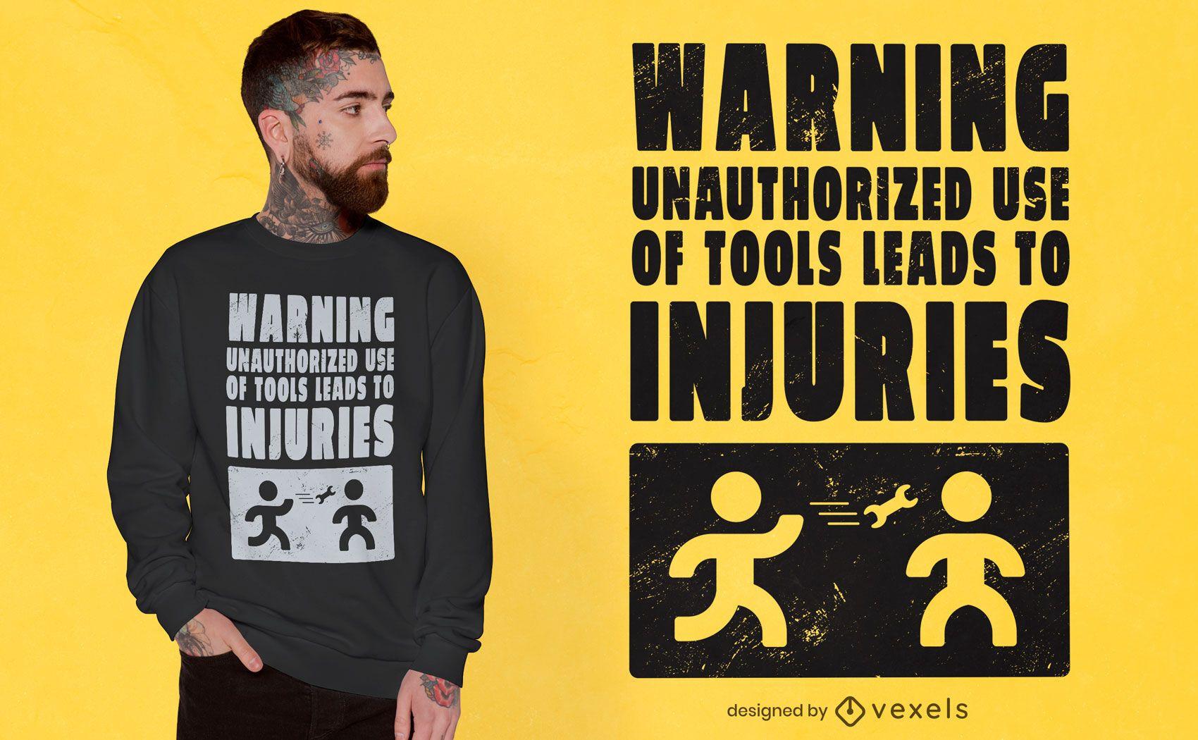 Mechanic warning sign t-shirt design