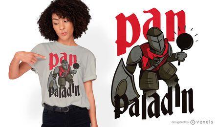Paladin RPG character with pan t-shirt design
