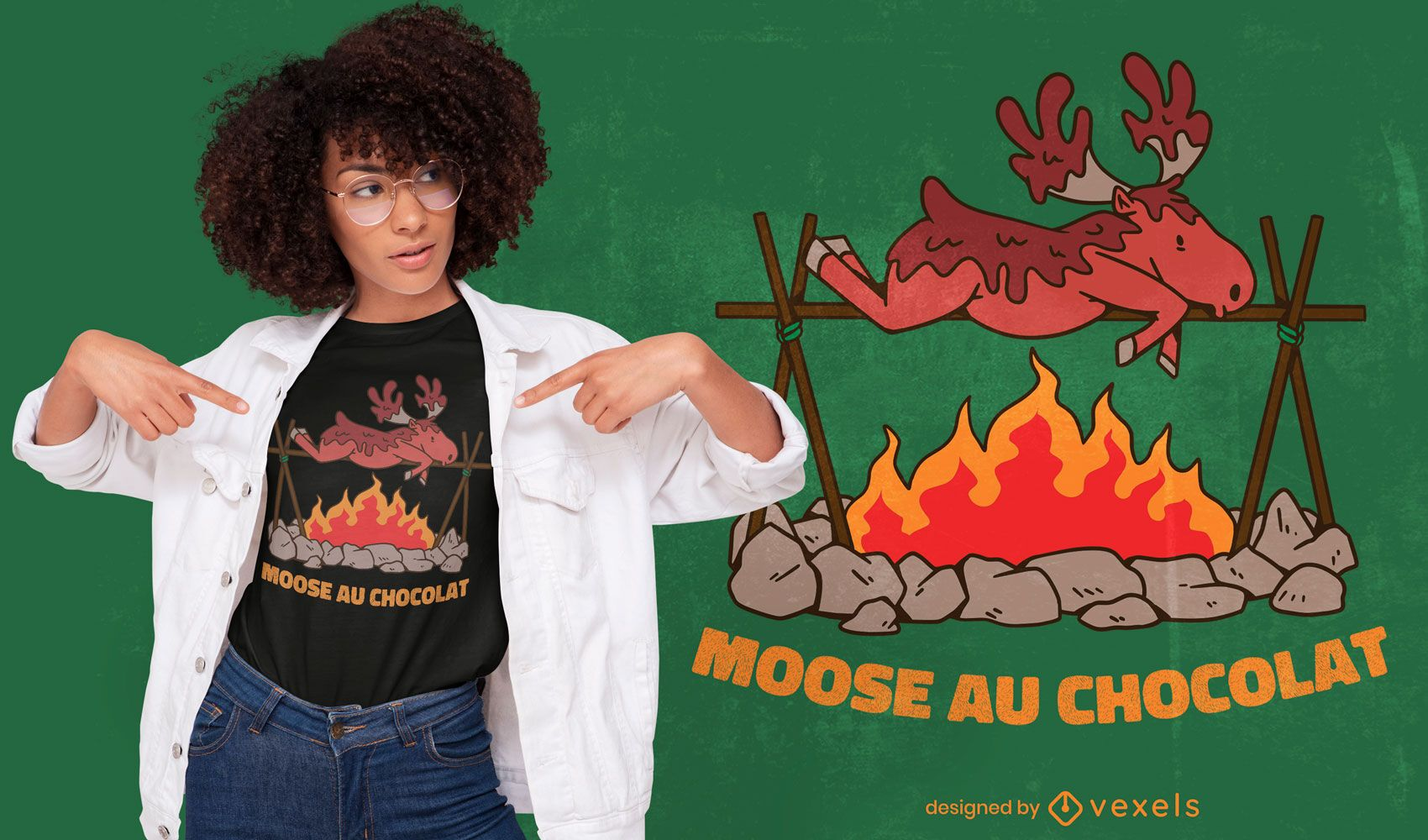Funny moose food quote t-shirt design