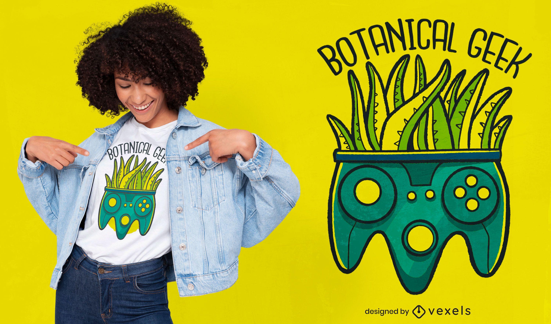 Diseño de camiseta botanical geek quote