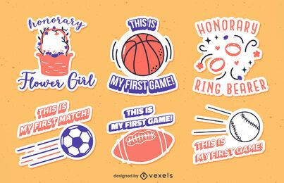 First sport set of stickers