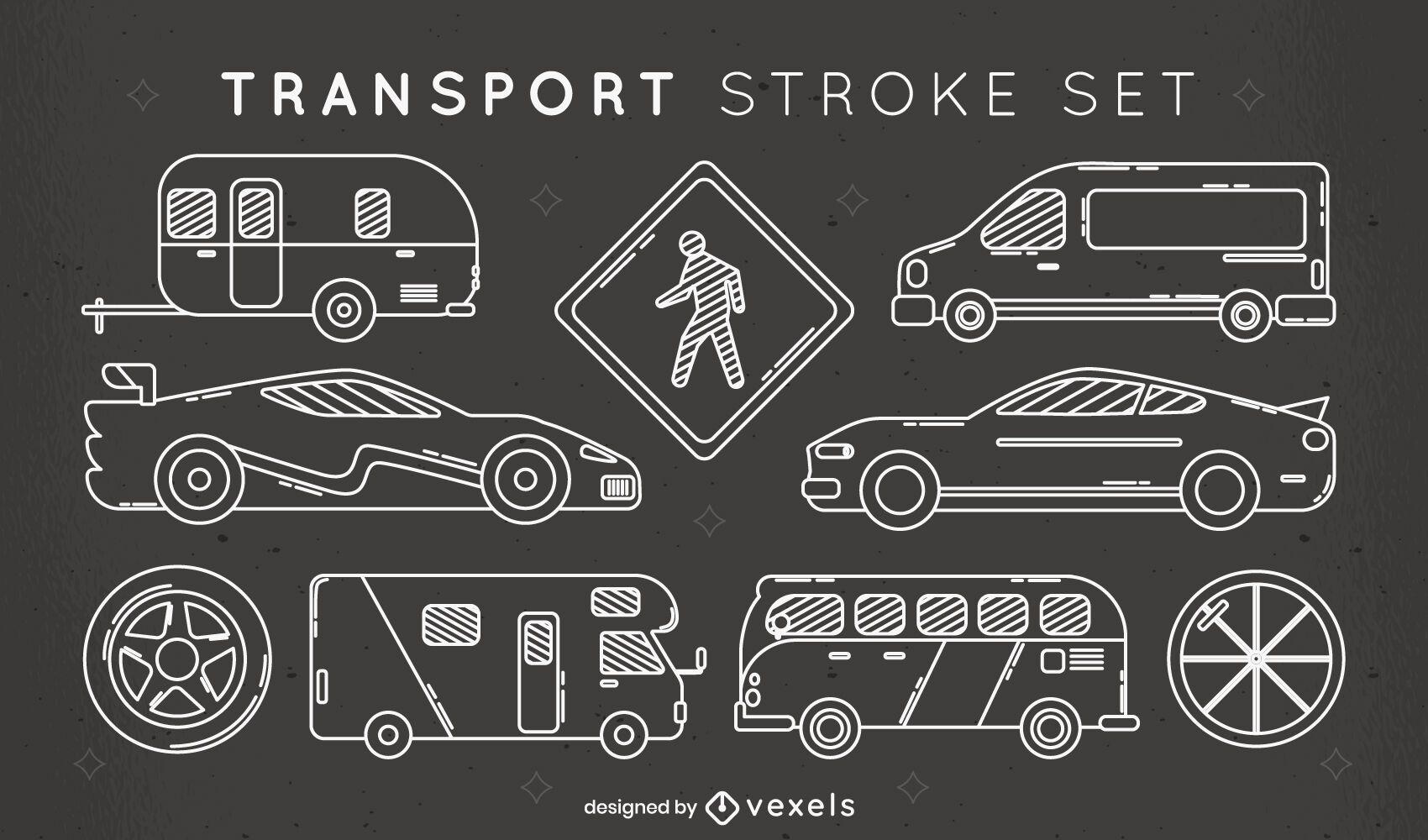 Cool set of stroke transport elements