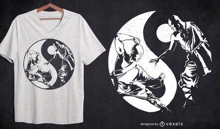 Yin yang martial arts sport t-shirt design