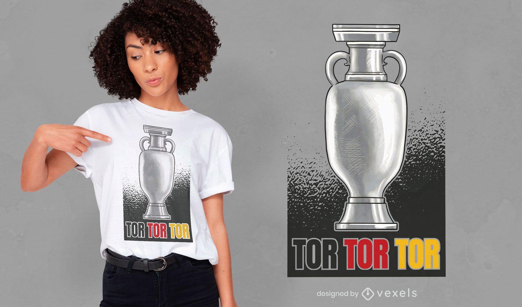 Trofeo deportivo diseño de camiseta de la canción alemana.