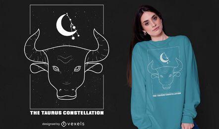 Taurus constellation zodiac sign t-shirt design