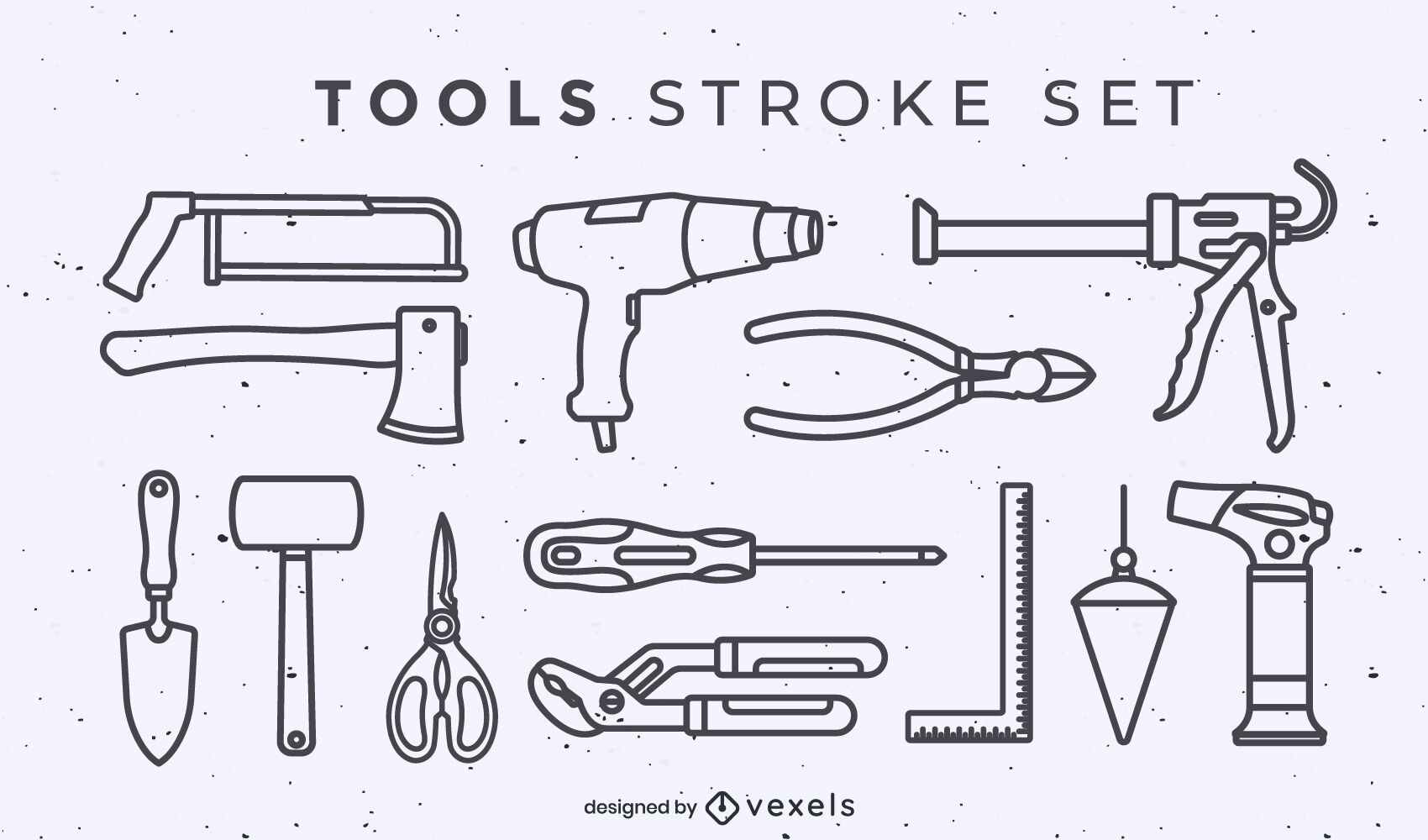 Set of tool elements stroke