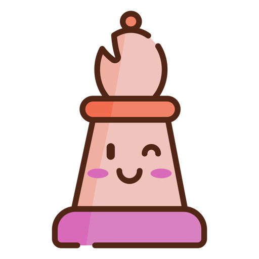 Pawn cute chess piece color stroke
