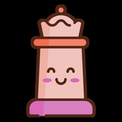 Queen cute chess piece color stroke