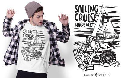 Sailing cruise t-shirt design