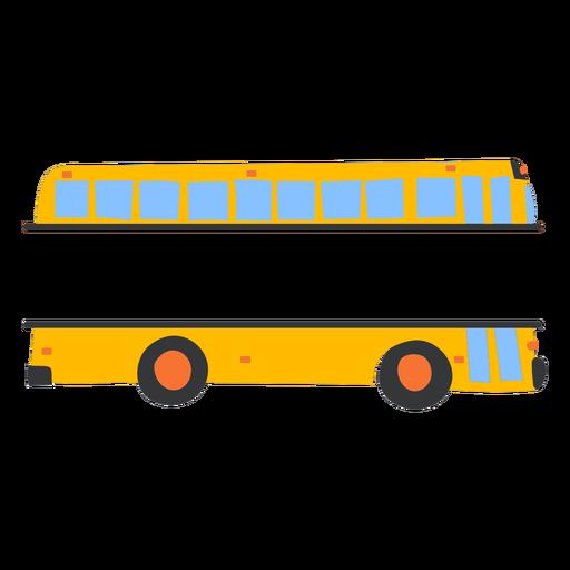 Flat school bus label