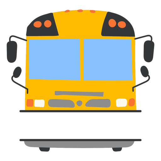 Frontal school bus flat label