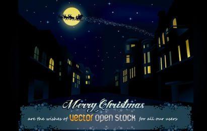 Noche de navidad en la ciudad