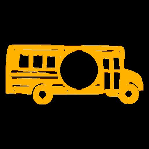 Side cut out school bus label