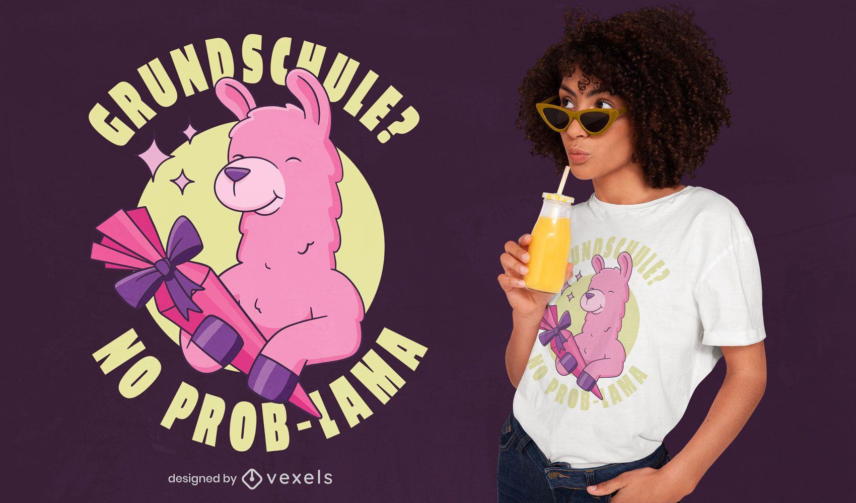 Elementary school llama t-shirt design