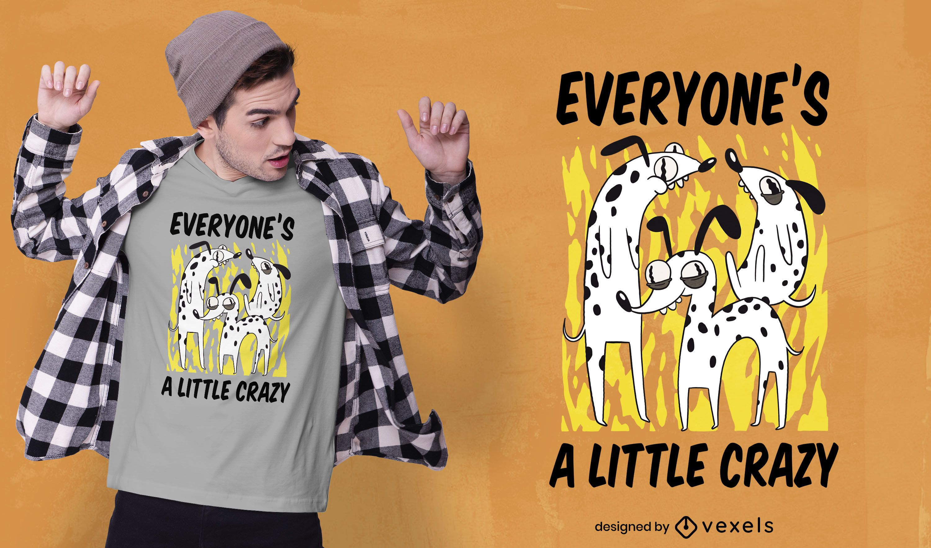 Crazy dogs quote t-shirt design