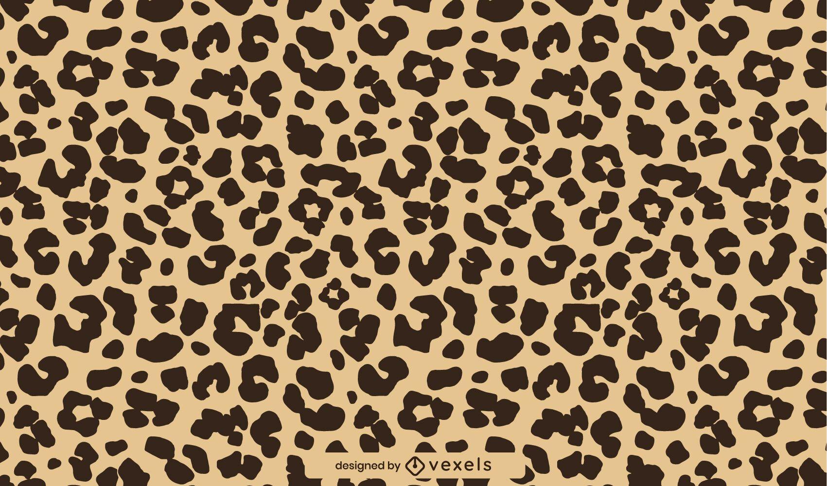 Estampado de animal print de guepardo plano