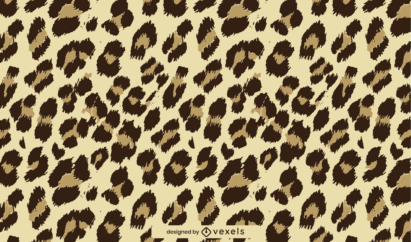 Padrão de pele com estampa animal de leopardo