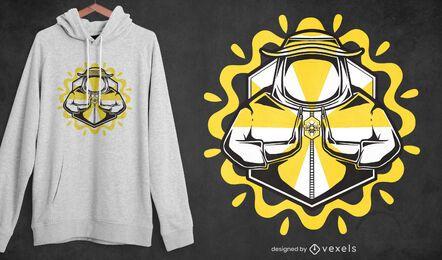 Honey farmer t-shirt design