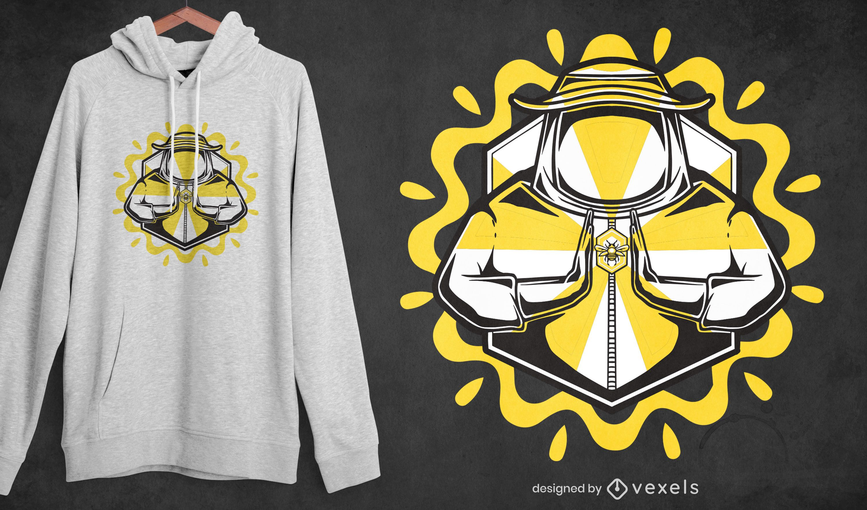 Diseño de camiseta de granjero de miel.