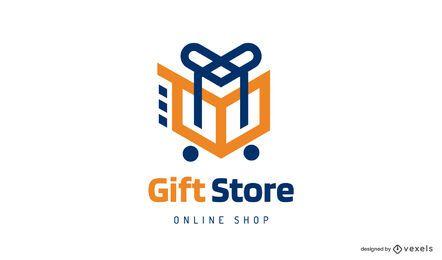 Gift store trolley logo design