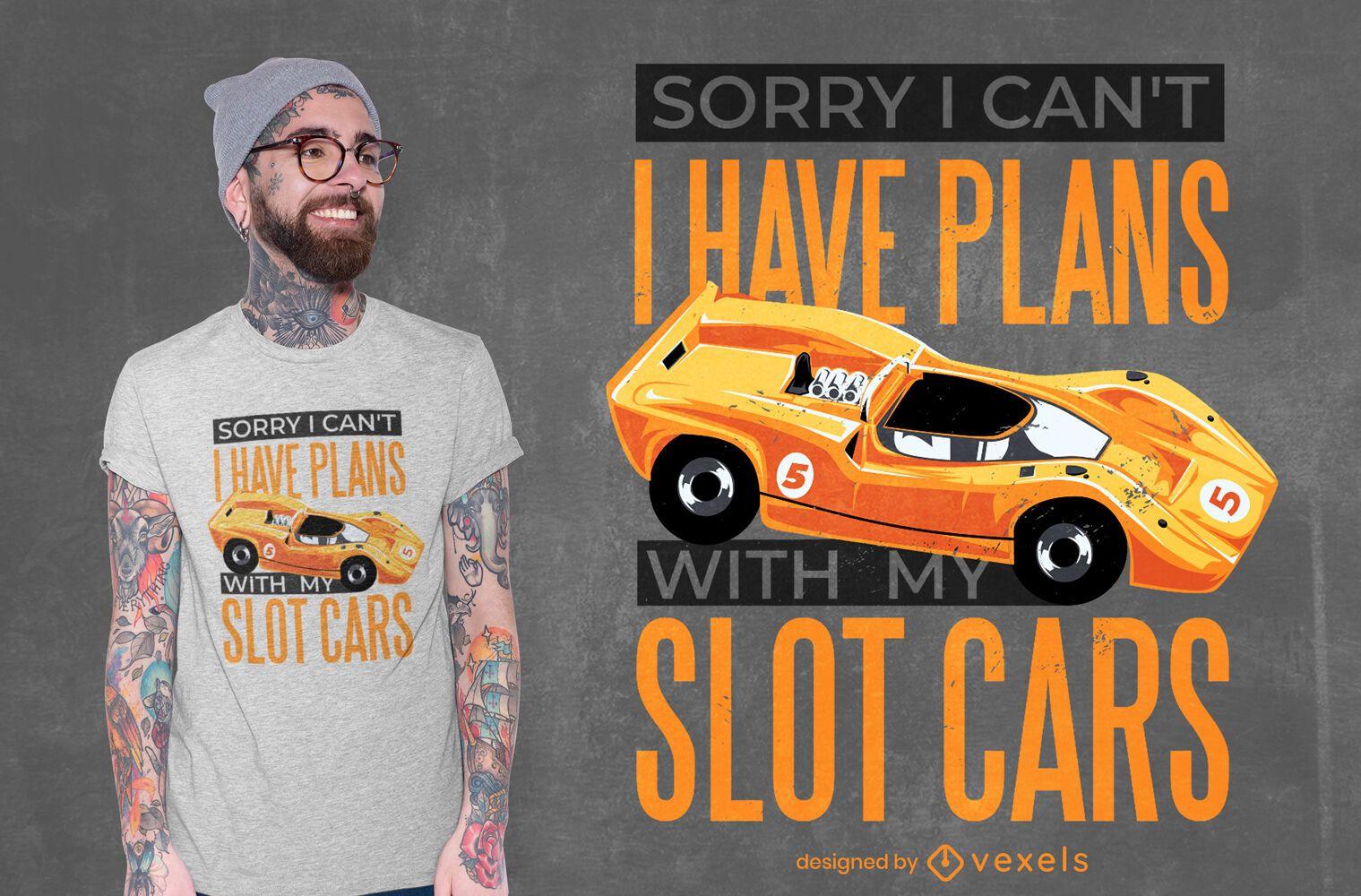 Diseño de camiseta con cita de coches tragamonedas.