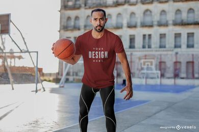 Basketball-Mann-T-Shirt-Modell