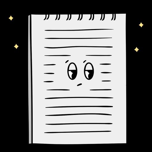 Note pad cartoon