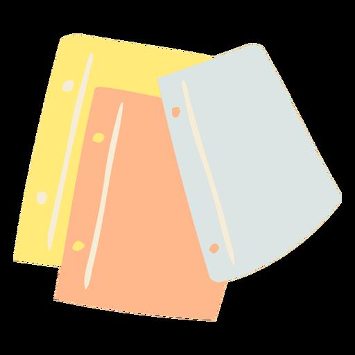 Pieces of paper flat doodle