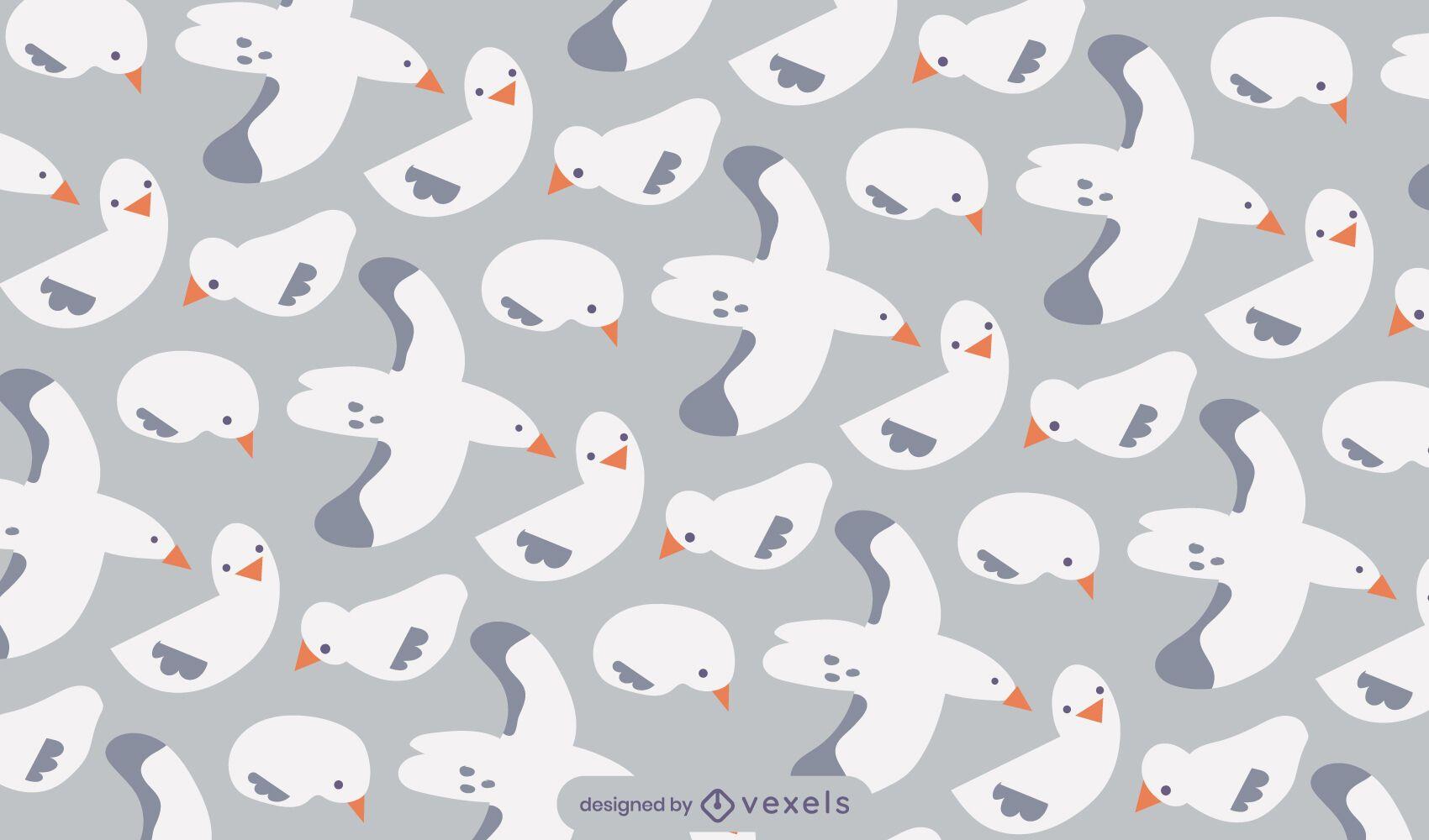 Seagull bird animal flying pattern design